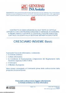 Generali Ina Assitalia - Cresciamo Insieme Basic - Modello midv228 Edizione 31-05-2014 [64P]