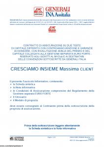 Generali Ina Assitalia - Cresciamo Insieme Massima Client - Modello midv231 Edizione 31-05-2014 [60P]