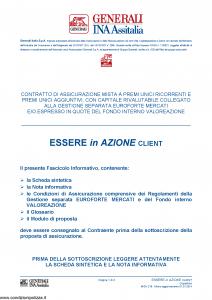 Generali Ina Assitalia - Essere In Azione Client - Modello midv218 Edizione 01-01-2014 [74P]