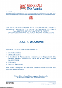 Generali Ina Assitalia - Essere In Azione - Modello midv217 Edizione 31-05-2014 [74P]