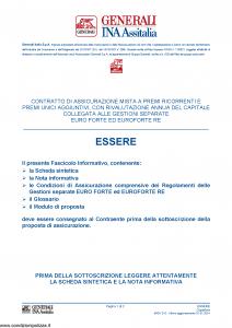 Generali Ina Assitalia - Essere - Modello midv215 Edizione 01-01-2014 [62P]