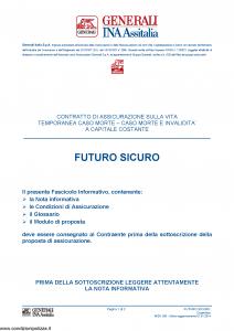 Generali Ina Assitalia - Futuro Sicuro - Modello midv200 Edizione 01-01-2014 [44P]