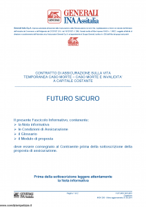 Generali Ina Assitalia - Futuro Sicuro - Modello midv200 Edizione 31-05-2014 [44P]
