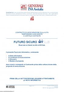 Generali Ina Assitalia - Futuro Sicuro Myclub - Modello midv201 Edizione 01-01-2014 [32P]