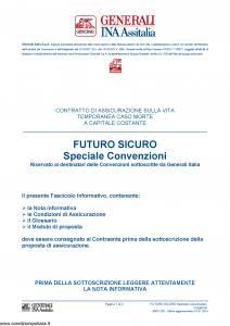 Generali Ina Assitalia - Futuro Sicuro Speciale Convenzioni - Modello midv202 Edizione 01-01-2014 [36P]