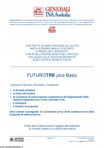 Generali Ina Assitalia - Futuro Tre Plus Plus Basic - Modello midv233 Edizione 31-05-2014 [66P]