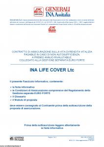 Generali Ina Assitalia - Ina Life Cover Ltc - Modello midv213 Edizione 31-05-2014 [48P]