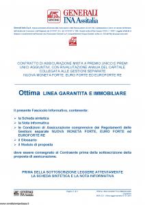 Generali Ina Assitalia - Ottima Linea Garantita E Immobiliare - Modello midv221 Edizione 01-01-2014 [50P]