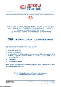 Generali Ina Assitalia - Ottima Linea Garantita E Immobiliare - Modello midv221 Edizione 31-05-2014 [50P]