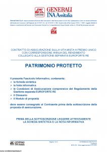 Generali Ina Assitalia - Patrimonio Protetto - Modello midv220 Edizione 01-01-2014 [40P]