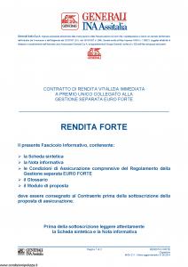 Generali Ina Assitalia - Rendita Forte - Modello midv211 Edizione 31-05-2014 [30P]