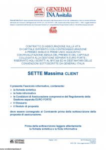 Generali Ina Assitalia - Sette Massima Client - Modello midv-208 Edizione 31-05-2014 [66P]