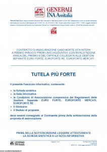 Generali Ina Assitalia - Tutela Piu' Forte - Modello midv-212 Edizione 01-01-2014 [74P]