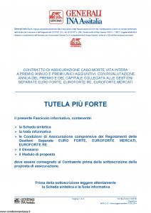 Generali Ina Assitalia - Tutela Piu' Forte - Modello midv-212 Edizione 31-05-2014 [74P]