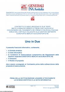Generali Ina Assitalia - Uno In Due - Modello midv-225 Edizione 01-01-2014 [64P]