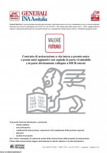 Generali Ina Assitalia - Valore Futuro - Modello midv-236 Edizione 09-12-2013 [102P]