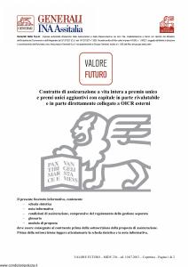 Generali Ina Assitalia - Valore Futuro - Modello midv-236 Edizione 10-07-2013 [90P]