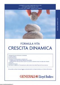 Generali Lloyd Italico - Formula Vita Crescita Dinamica - Modello s11l-117 Edizione 01-2014 [54P]