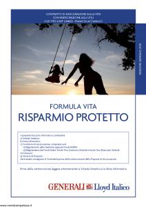 Generali Lloyd Italico - Formula Vita Risparmio Protetto - Modello s11l-116.114 Edizione 01-2014 [58P]