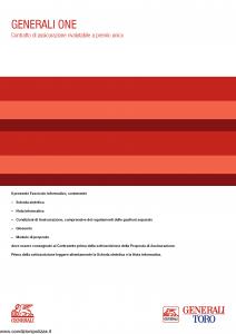 Generali Toro - Generali One - Modello gvgo toro Edizione 31-05-2014 [50P]