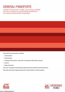 Generali Toro - Generali Pianoforte - Modello gvgpf toro Edizione 05-2014 [58P]