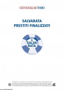 Generali Toro - Salvarata Prestiti Finalizzati Tariffe 452U 453U 454U - Modello f.cpicvita Edizione 01-2014 [20P]
