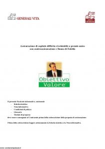 Generali Vita - Obiettivo Valore - Modello gvobv Edizione 01-12-2005 [42P]