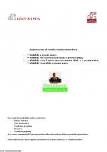Generali Vita - Pensione Immediata - Modello gvpi Edizione 03-2006 [42P]