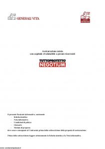 Generali Vita - Tutto Protetto Negotium - Modello gvtpn Edizione 01-12-2005 [54P]