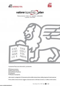 Generali Vita - Valore Risparmio Plan - Modello gvripl Edizione 03-2006 [54P]