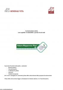 Generali Vita - Valore Risparmio Plan - Modello gvripl Edizione 12-2005 [54P]