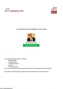 Generali Vita - Valore Unico - Modello gvu Edizione 01-12-2005 [42P]