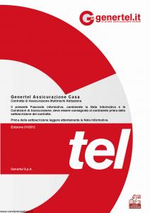 Genertel - Genertel Assicurazione Casa - Modello nd Edizione 01-2012 [26P]