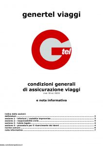 Genertel - Genertel Viaggi - Modello 90 Edizione 09-2004 [7P]