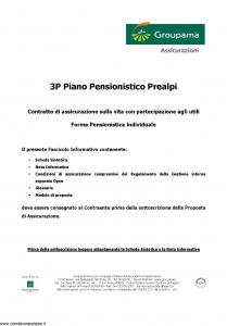 Groupama - 3P Piano Pensionistico Prealpi - Modello 150298 Edizione 05-2006 [49P]