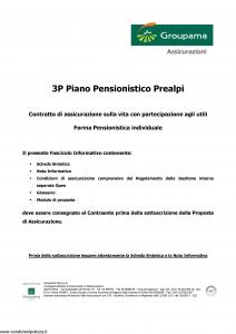 Groupama - 3P Piano Pensionistico Prealpi - Modello 150298 Edizione 09-2006 [49P]