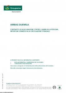 Groupama - Airbag Duemila - Modello 150065c Edizione 12-2010 agg 12-2017 [21P]