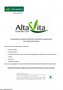 Groupama - Alta Vita Novembre 2009 - Modello 220054 Edizione 11-2009 [33P]