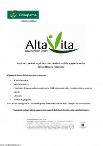 Groupama - Alta Vita Novembre 2009 - Modello 220068 Edizione 11-2009 [33P]