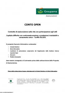 Groupama - Conto Open - Modello 160293-1 Edizione 03-2008 [24P]