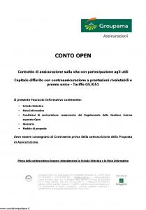 Groupama - Conto Open - Modello 160293-1 Edizione 03-2009 [23P]
