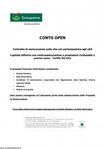 Groupama - Conto Open - Modello 160293-1 Edizione 03-2010 [24P]
