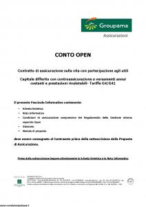 Groupama - Conto Open - Modello 160293 Edizione 03-2007 [27P]