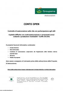 Groupama - Conto Open - Modello 160293 Edizione 03-2008 [27P]
