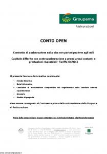 Groupama - Conto Open - Modello 160293 Edizione 03-2009 [26P]