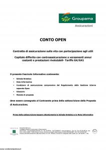 Groupama - Conto Open - Modello 160293 Edizione 05-2006 [27P]