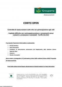 Groupama - Conto Open - Modello 160293 Edizione 12-2007 [27P]