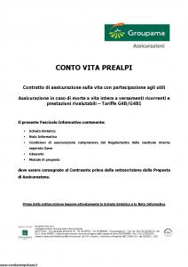 Groupama - Conto Vita Prealpi - Modello 150313-1 Edizione 03-2007 [23P]