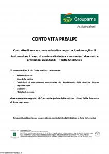 Groupama - Conto Vita Prealpi - Modello 150313-1 Edizione 05-2006 [23P]