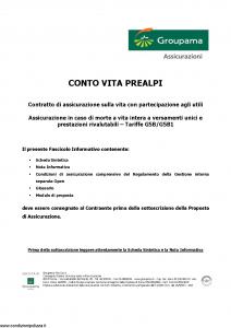 Groupama - Conto Vita Prealpi - Modello 150313 Edizione 03-2007 [23P]